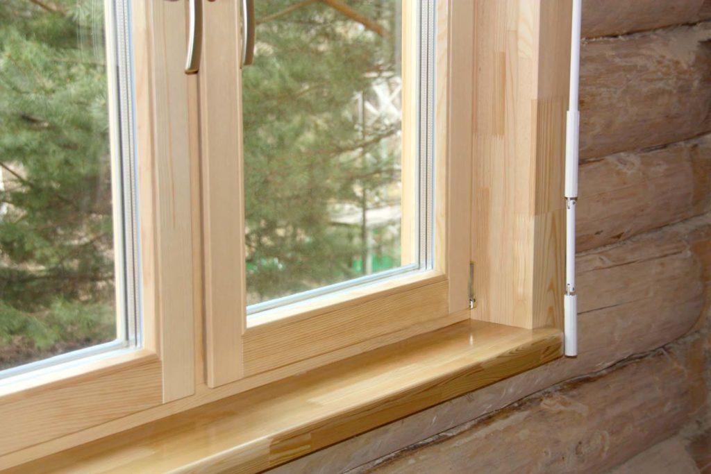 Монтаж пластиковых окон в деревянном доме